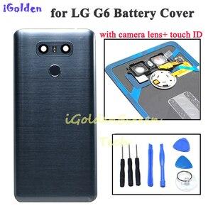 Image 1 - Tylna pokrywa dla Lg g6 pokrywa baterii obudowa drzwi obudowa z kamerą szklana soczewka identyfikator dotykowy zamiennik dla G6 LS993 US997 VS998 H870