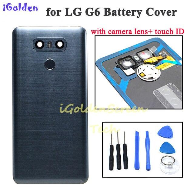 Tylna pokrywa dla Lg g6 pokrywa baterii obudowa drzwi obudowa z kamerą szklana soczewka identyfikator dotykowy zamiennik dla G6 LS993 US997 VS998 H870