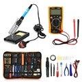 23 в 1 паяльник многофункциональный набор ручных инструментов для различных электронных комплектное устройство электронный ЖК-экран цифров...