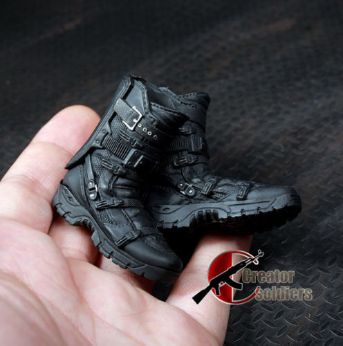 1:6 Scale Soldiers Falcon Combat Boots Toy Shoes With Joint for 12 Male Action Figures ancient knight 28pcs set soldiers and horses medieval model toy soldiers figures