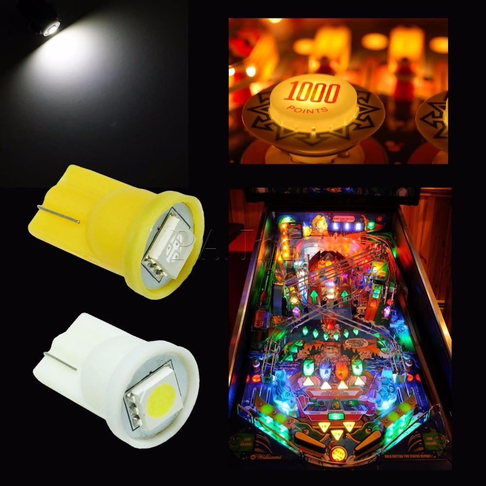 PA LED 50 шт. 6.3 В светодиод для пинбол огни 5050 #555 AC DC красный желтый и зеленый цвета сине-белые pa ...