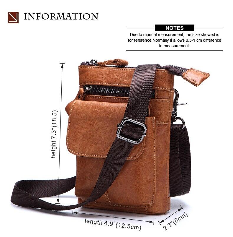 FSSOBOTLUN,For Blackview X/BV7000 Pro/A20/BV5800/S6 Case Men's Belted Waist Wallet Bag Genuine Leather Cover With Shoulder Strap - 2