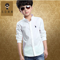 2-14 años Marca chicos camisetas de manga larga casual camisas para niños del otoño del resorte niños ropa niños camisa de los niños ropa