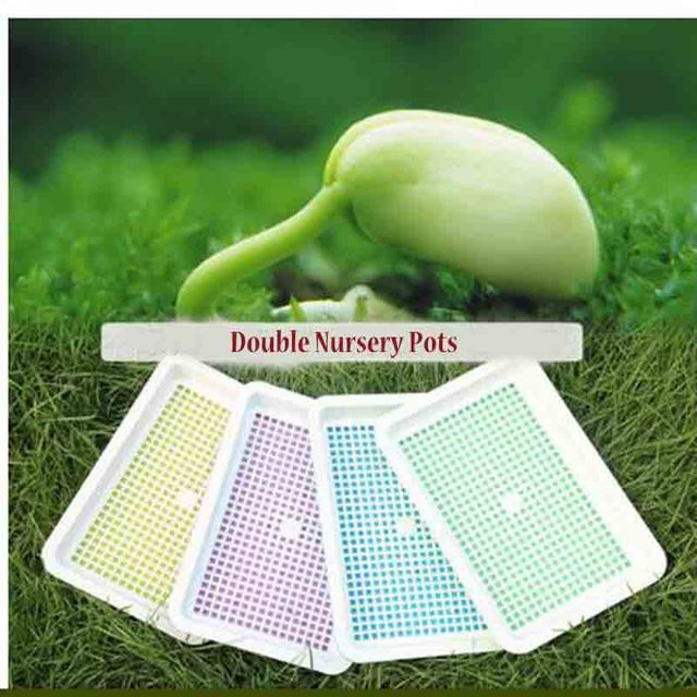 Hydroponics System Plastic Trays For Plants Vegetable Planter Plant  Gardening Pots Growing Nursery Tray Seedling