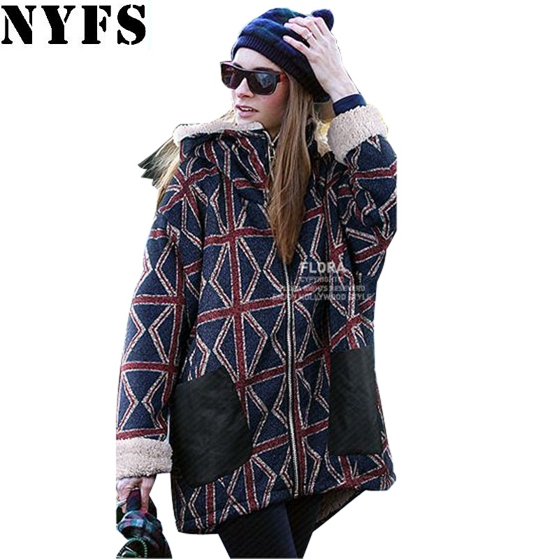 NYFS 2017 Autumn Winter Women Coats And Jackets Woman Warm musim dingin parka Hooded Coat Plus Size M-5XL Oversized Basic Jacket