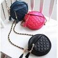 NEW 2015 Women Messenger Bag Round circular Candy Color Vintage Chain Tassel Red Shoulder Handbag purses and handbags JH231