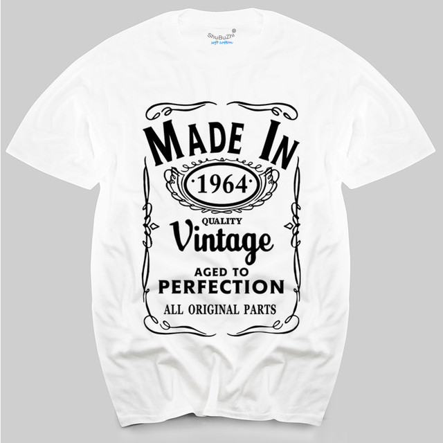 Made In 1964 T Shirt Born 52nd Year Birthday Age Present Vintage Funny Mens Gift Top Tees