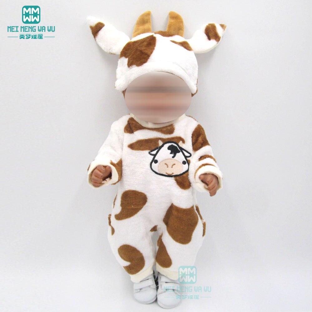 Ubrania dla lalek dla 43 cm zabawki noworodków akcesoria dla lalek dla dzieci Cartoon zwierząt kombinezon