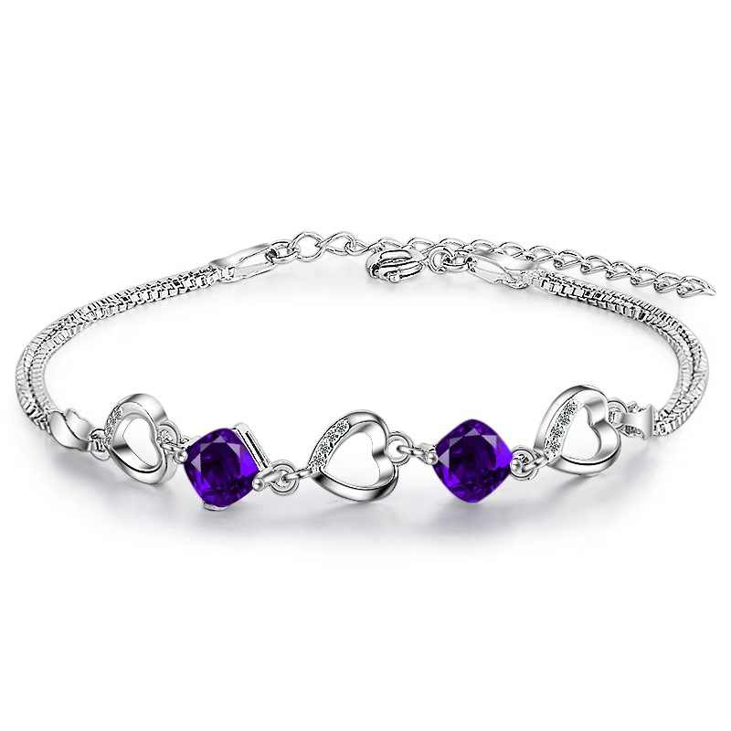 Purple heart bracelet for women fashion bracelet for girls accessories