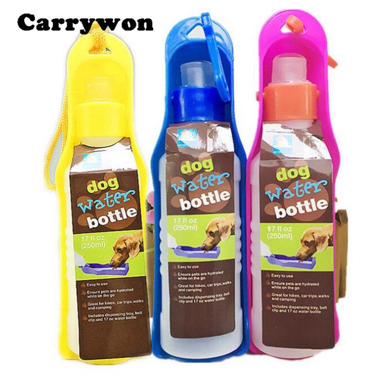 Plastic Pet Travel Water Drinking Bottle Portable Pet Dog: Carrywon Practical & Convenient 250ML Plastic Foldable Pet
