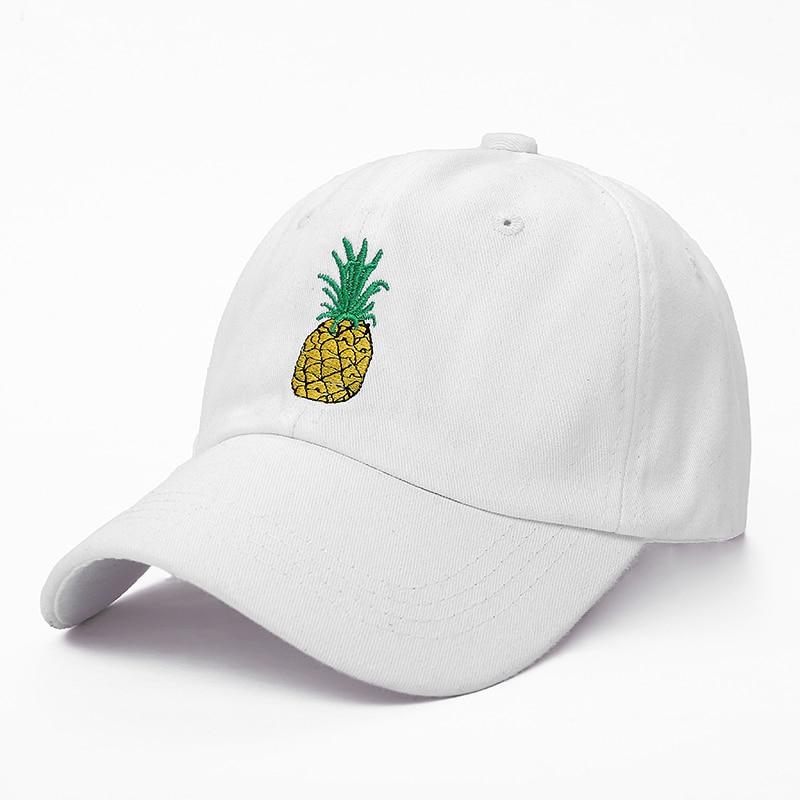 VORON new Pineapple Embroidered Baseball Cap Funny Fresh Fruit Hipster Hat Pineapple Dad Hat Baseball Cap 2