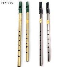 Ирландский свисток флейта Feadog C D ключ оловянный свисток 6 отверстий кларнет флейта никелированная Flauta латунный музыкальный инструмент dizi