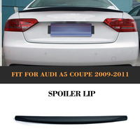 Car Rear Trunk Boot Custom Spoiler Lip Rear Wing For Audi A5 Coupe 2 Door standard Only 2009 2015 Blcak PU