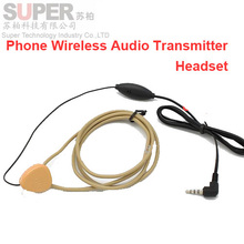 induction earphone cable voice transmitter handsfree headset voice handsfree transmitter for phone headphone handsfree earphone