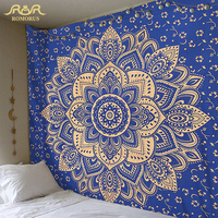2018 Hot Indian Mandala Tapestry Bohemian Hippie Wall Hanging Tapestries Bedroom Living Room Wall Decoration Boho Carpet Fabric