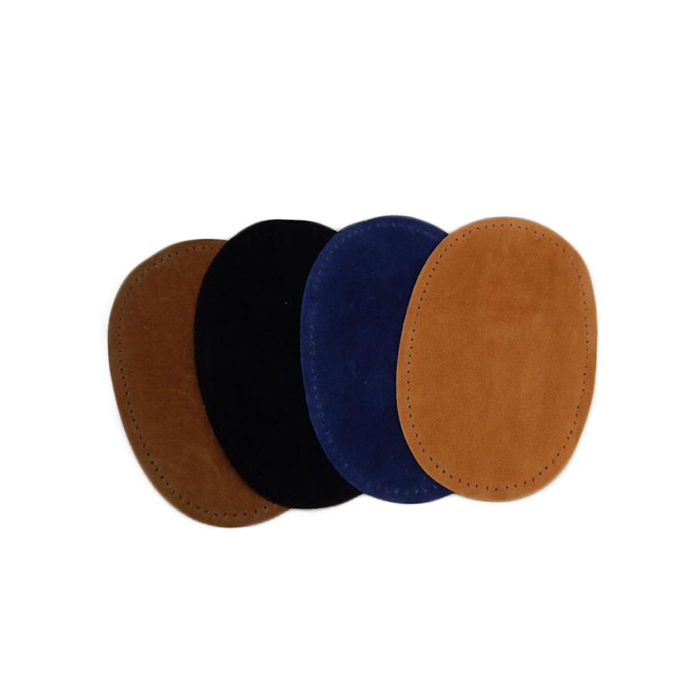 Genuine Suede Leather Patch With Pin Hole DIY Oval Soft Leather Sheet For Cardigan Clothes Bag Handbag Sewing Accessories 14*9cm