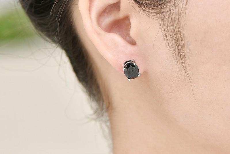 black stud earrings ,hot sale new earrings for women black NE79200F (3)