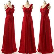 00055 с цветком два плеча ярко розовый фиолетовый синий черный красный королевский цвет шифон длинные ну вечеринку bridemaids платья невесты
