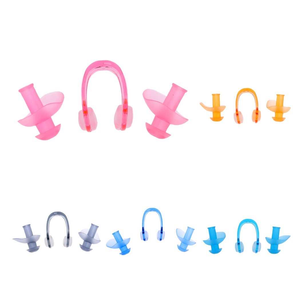 1 çift silikon yüzme kulaklıklar su geçirmez yumuşak kulak tıkacı anti-gürültü toz geçirmez dalış su sporları yüzme aksesuarları