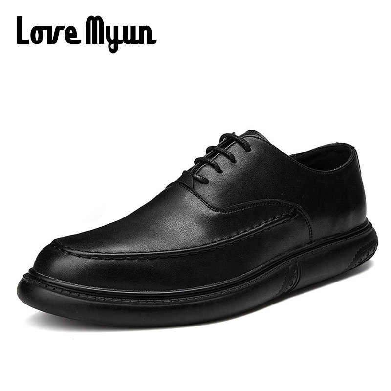 Bahar yeni erkekler düğün ayakkabı elbise ayakkabı düz renk dantel-up Patent deri erkek iş sivri burun ayakkabı olmayan kaymaz Oxfords PA-81