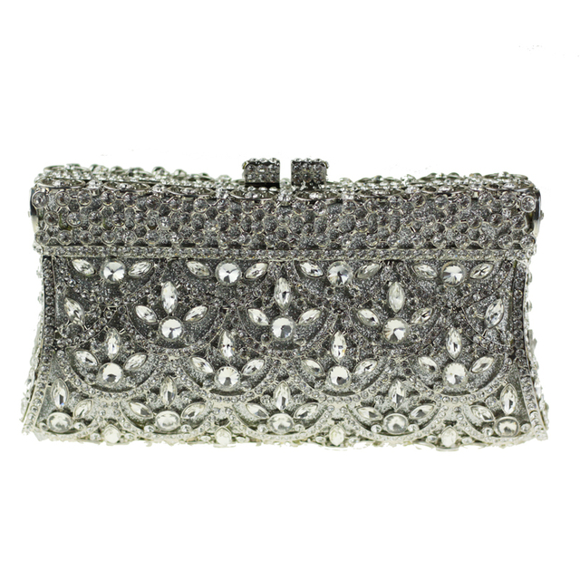 Gold Clutch Evening Bags For Women Wedding Party Special Occasion Purse Silver Crystal Bag