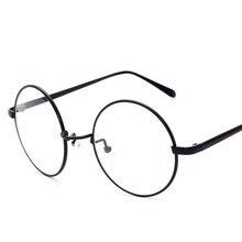 Vintage Inspired Oversized Circle Clear Plain Glasses Alloy Frame Designer Outdoor Eyewear Spectacle Lunettes Transparente Lisse