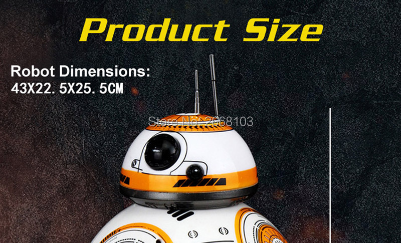 Upgrade Model Ball Star Wars RC BB-8 Droid Robot BB8 Intelligent Robot 2.4G Remote Control Toys For Girl Gifts With Sound Action 18