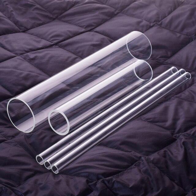 1 قطعة زجاج بوروسيليليك مرتفع أنبوب ، O.D. 70 مللي متر ، Thk. 2.5 مللي متر/5 مللي متر ، L. 200 مللي متر/250 مللي متر/300 مللي متر ، مقاومة درجات الحرارة العالية أنبوب زجاجي