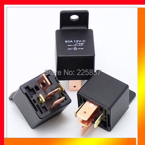 auto electrical relay (5pc/lot) good quality JD1914(2912) 12v DC 5Pin 5P heavy duty 80A 80amp car relay with bracket 2015 new arrival 12v 12volt 40a auto automotive relay socket 40 amp relay