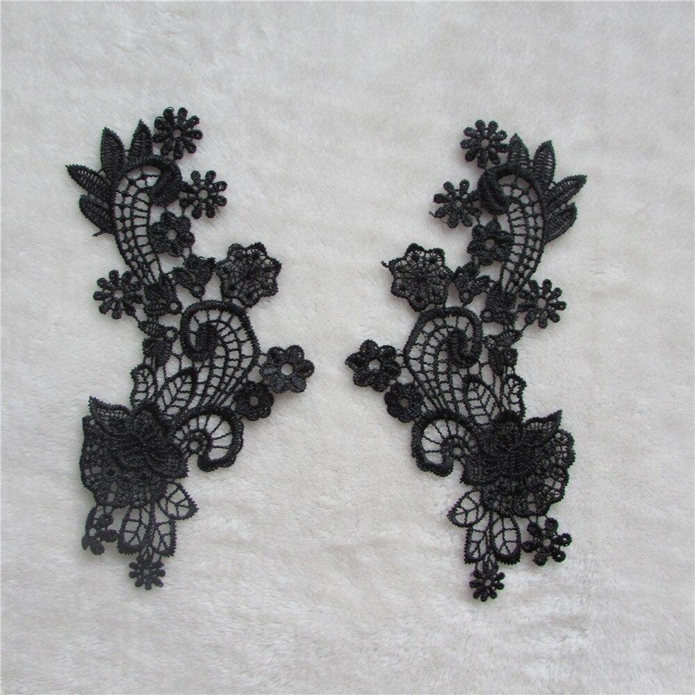 ᗛBordado DIY del cordón del collar de la flor artesanías moda ...