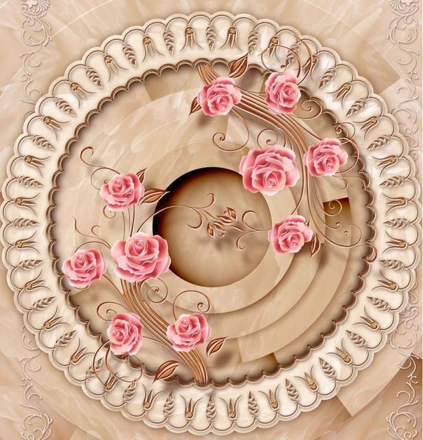 e6ad8d686344 Piso 3d pintura fondo de pantalla personalizado Europea Mármoles de Oro  Rosa impermeable autoadhesiva piso 3d