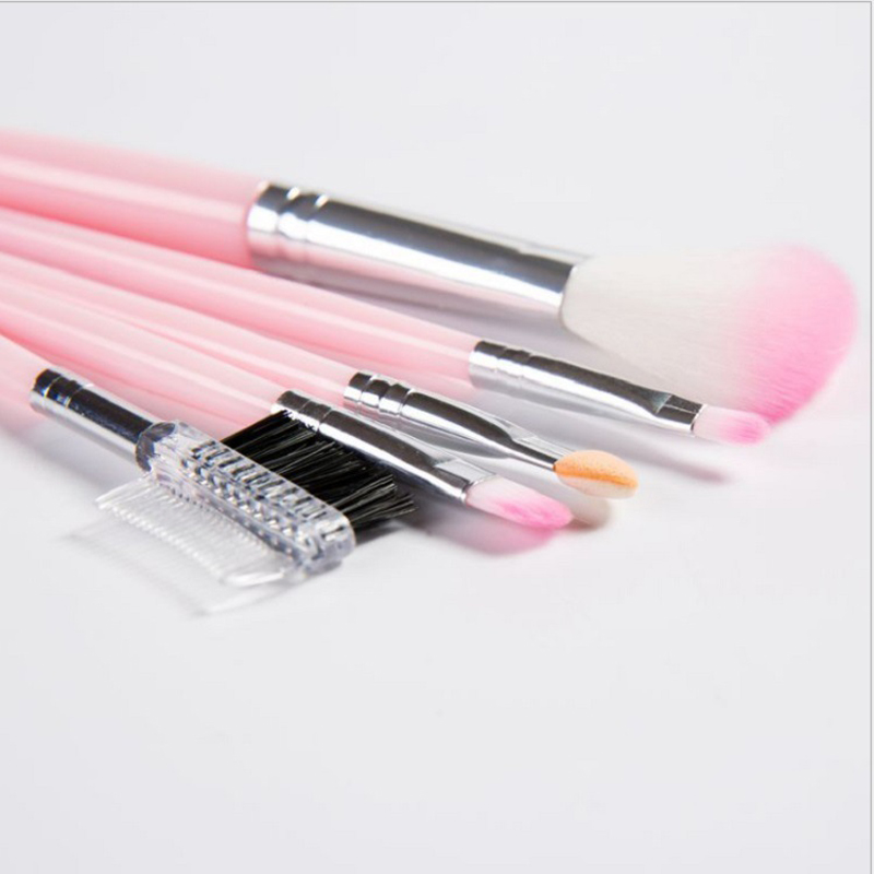 HUAMIANLI 5pcs Makeup Brush Set for Full Eye and Face Makeup Suitable for Eye Shadow Foundation and Compact 5