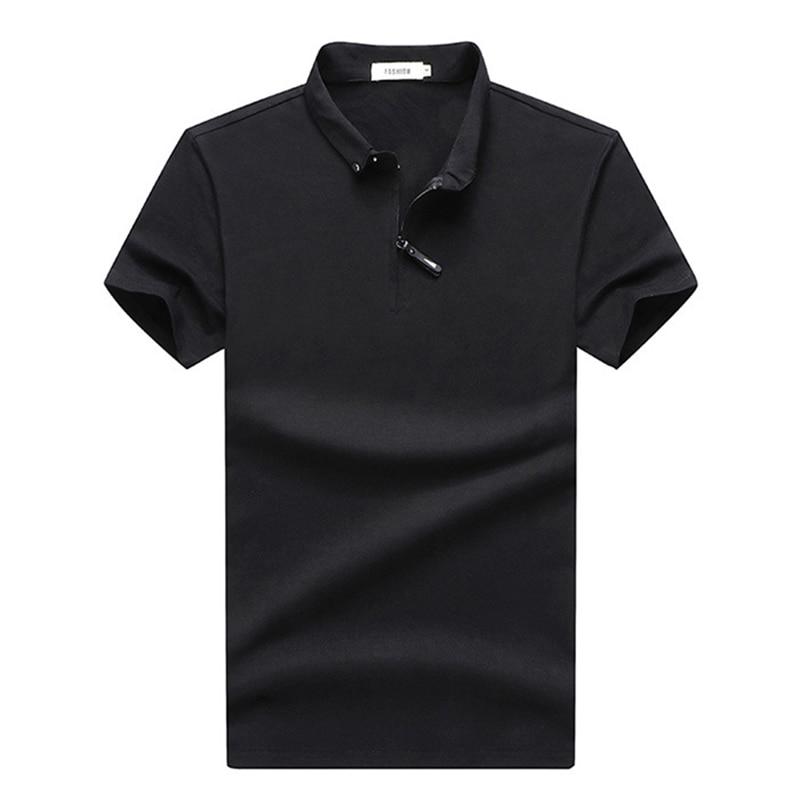Cotton Polo Shirt Men High Quantity Business Casual Polo Shirt Male Short Sleeve Solid Polos Para Hombre Pure Polo Homme M-4XL