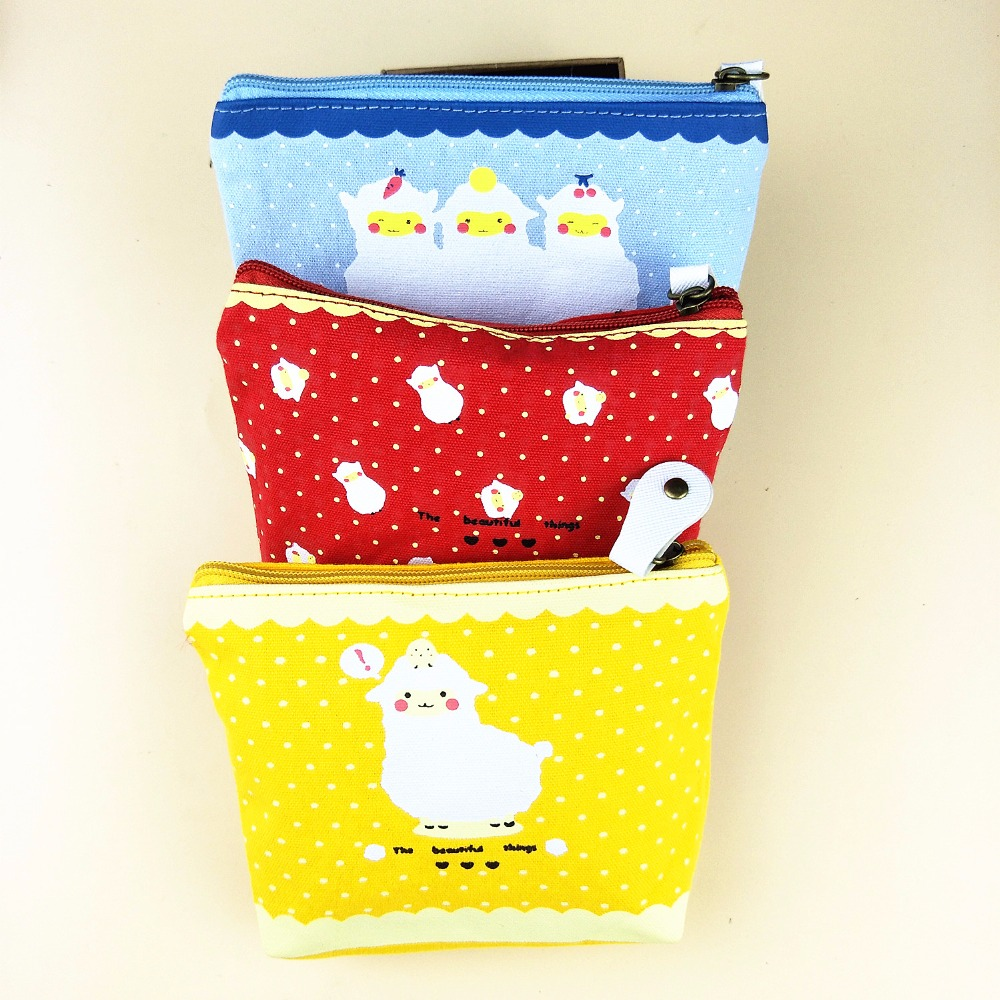 M179 Cute Cartoon Creative Cotton Fabric Small Sheep Coin Purse Wallet Card Bag Girl Women Student Gift Wholesale