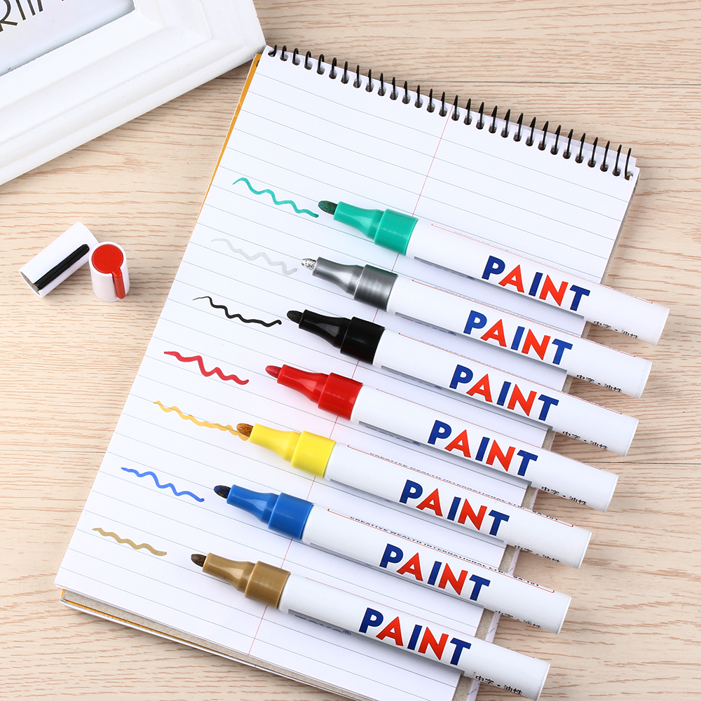 Waterproof Marker Pen Sunscreen Paint For metal Glass Paper Art works Oily ink
