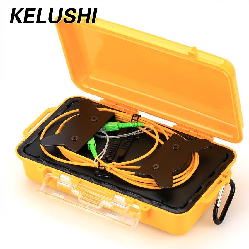 KELUSHI OTDR 1 км волоконно оптический короб для кабеля запуска, Одиночный разъем 9/125 мкм SC, устройство для удаления мертвых зон, волокно, бесплатн