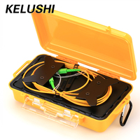 KELUSHI OTDR 1km Fiber Optic Launch Cable Box Singlemode 9/125um SC/ APC Connector Dead Zone Eliminator Fiber Free Shipping