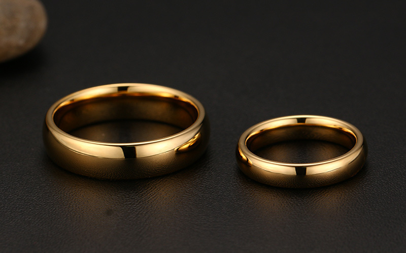 Wholesale 1 Pair Tungsten Carbide Gold Ring For Men Women Lovers