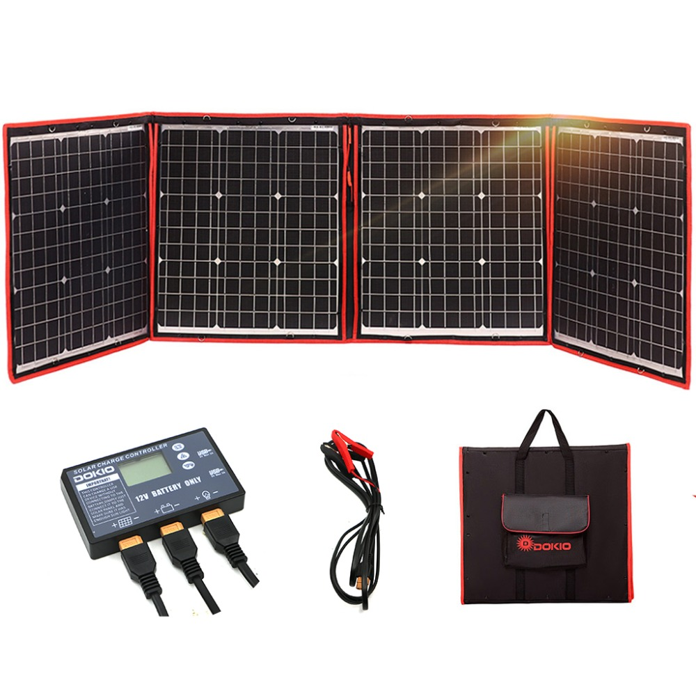 Dokio 18V 160W Solar Panel 12V Flexible Foldble Solar Panel Usb Portable Solar Cell Set For Boats/Out-door Camping/Car/RV 150W