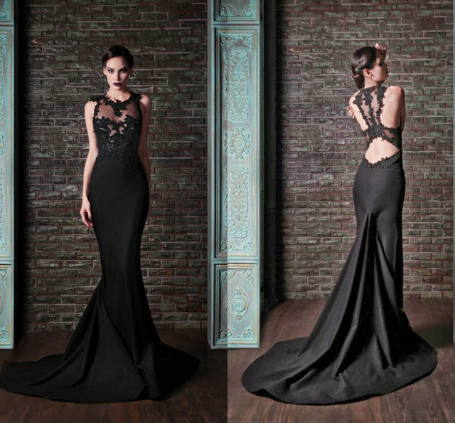 Sexy Black Wedding Gowns