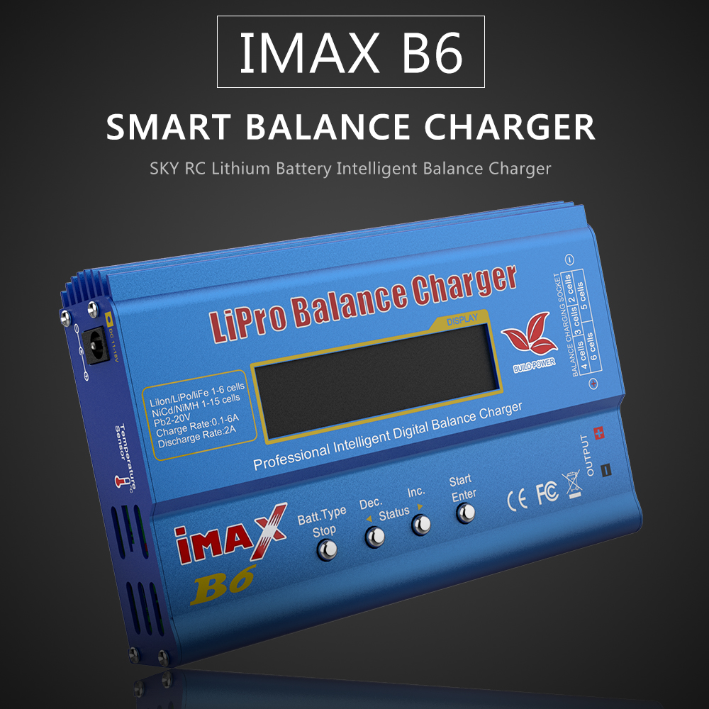Newest Build-Power Battery Charger 80W iMAX B6 Lipro NiMh Li-ion Ni-Cd RC lithium Battery Balance Digital Charger Discharger