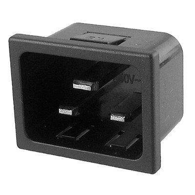 AC 250V 16A 3 Terminals IEC320 C20 Inlet Male Power Plug Socket screw terminals metal casing 10a ac 115 250v emi filter