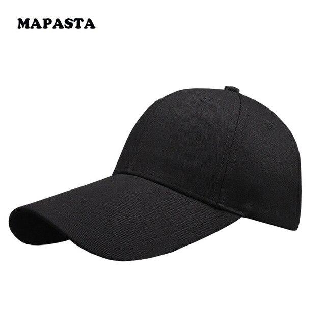 MAPASTA nuevo algodón color sólido sombrero del golf negro sombrero largo de la gorra de béisbol hombres y mujeres casquillo de los deportes al aire libre
