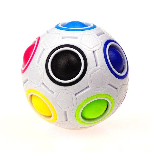 Us 1 47 Neuheit Regenbogen Fussball Puzzle Spharische Wurfel Spielzeug Padagogische Lernspielzeug Fur Kinder Kinder Erwachsene Geschenk In Neuheit