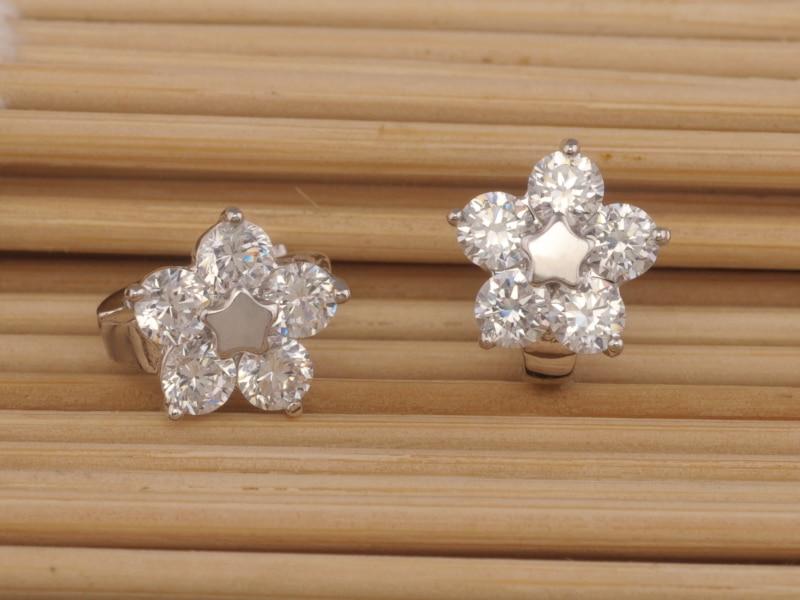 M. G. Fam цветочные серьги обруч для женщин AAA+ Циркон Камень прозрачный белый золотой цвет