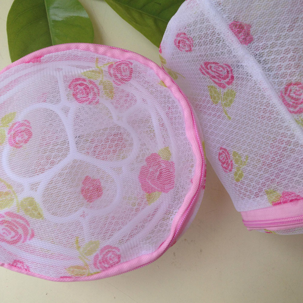 Convenient Bra Lingerie Underwear Sock Wash Laundry Bags Home Using Clothes Net Washing Aid Net Mesh Zip Bag Wholesale 555
