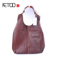 AETOO Genuine Leather Women S Bunny Cowboy Bag Japanese Style Large Capacity Cloak Pack Bag Handbag