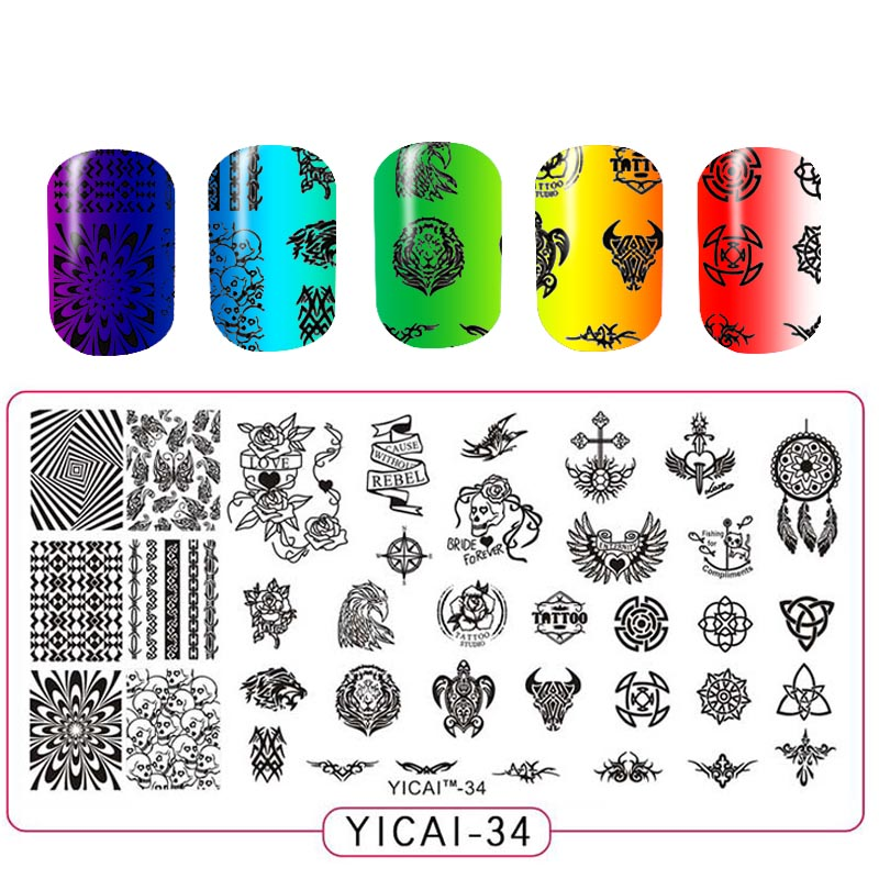 Nail Art Spa Warsaw In: Nail Stamping Plates Template 3D Flower Series Image