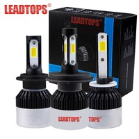LEADTOPS Auto Headlights Bulb Kits H7 LED H4 HB3 H11 H1 9005 9006 Car Light H7 - 6500K CCT 72W 9000LM- Automobiles Headlamp FB