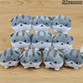 10pcs/set Neko Atsume Cat Backyard Cat Meow Collection Dango Mochi Mini Plush Stuffed Dolls Cute Small Pendant Baby Toys